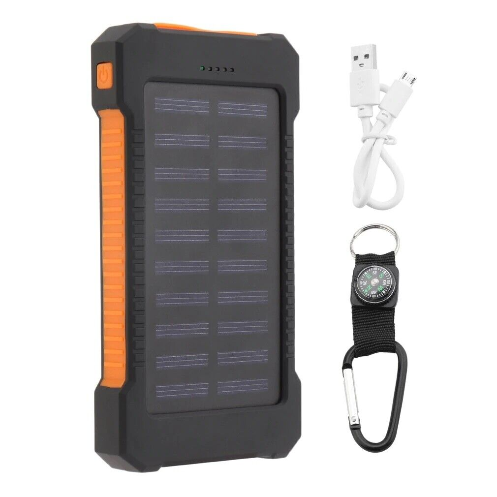 Solar Power Bank 300000mAh Dual USB Portable Solar Battery Charger For Phone USA Cell Phone Accessories