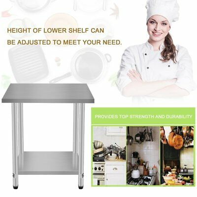 24x30 Kitchen Work Prep Table With Backsplash Business Stainless Steel House