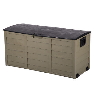 Outdoor Patio Deck Box All Weather Large Storage Cabinet Container Organizer 260