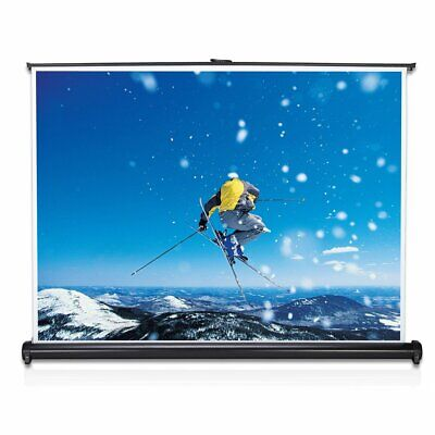 """40"""" Diagonal 4:3 Projection Projector Screen HD Manual Pull Down Home OR"""