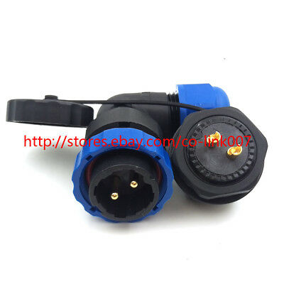Sd20 Ip67 2pin Waterproof Connector Industrial Bulkhead Power Cable Connector