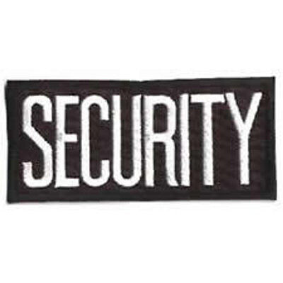 2 Small Security Patches Badge Emblem 4 14 Inches X 2 Inches Whiteblack