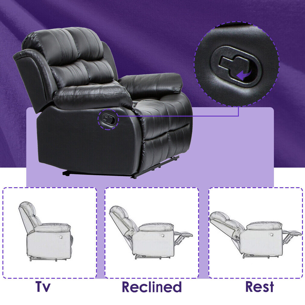 Recliner Sofa Love Seat Sofa Leather Loveseat Reclining Couch Home Theater Furniture