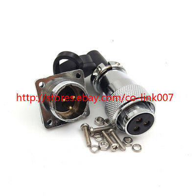 Ws20 3pin Waterproof Connector Ip65 High Voltage Power Cable Connector