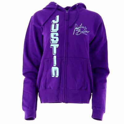 Justin Bieber Signature Women's Purple Hoodie Official Licesnsed Music Small