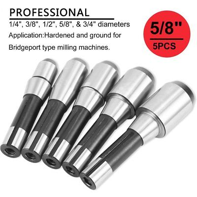 8 End Cutter - R8 5PCS End Mill Cutter Tool Holder Bit Set for Milling Mill Machine Tool USA BT