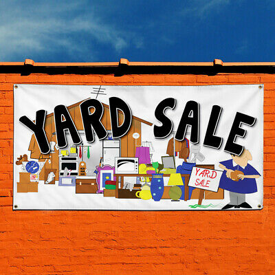 Vinyl Banner Sign Yard Sale Business Style T Marketing Advertising White