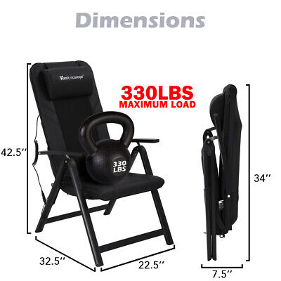 Folding Shiatsu Massage Chair With Adjustable Backrest And Back Heating Full Health & Beauty