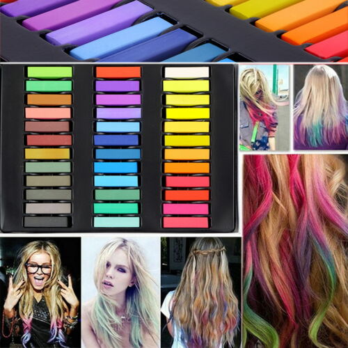12/24/36 Colors Non-toxic Temporary Pastel Hair Hair Dye Chalk Set ...