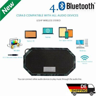 Tragbar Bluetooth Lautsprecher Speaker Soundstation Wasserdicht IP66 MP3-Radio Tragbare Wasserdicht Mp3