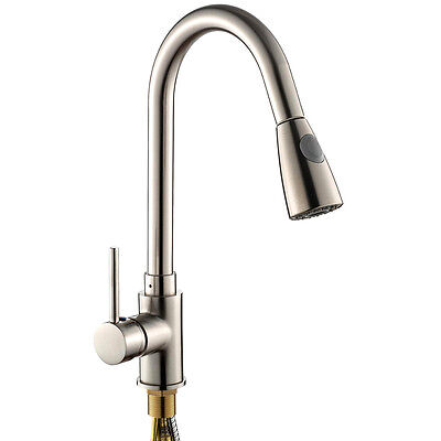 Brass Pull Out Shower Spray Swivel Kitchen Basin Mixer Taps Sink Laundry Faucet Ebay