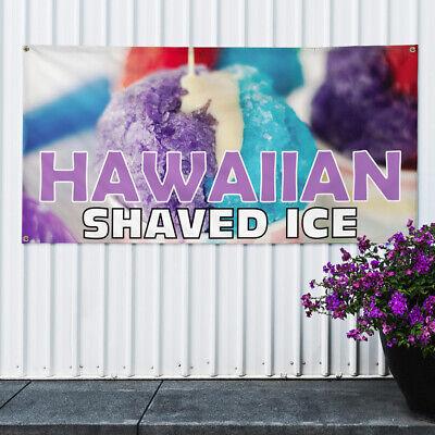 Vinyl Banner Sign Hawaiian Shaved Ice 1 Style G Marketing Advertising Purple
