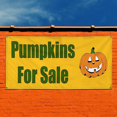 Vinyl Banner Sign Pumpkins For Sale Halloween Marketing Advertising Green