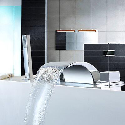 Wasserfall Wannen Bad Armatur Badewannenarmatur Einhebelmischer Wasserhahn Set