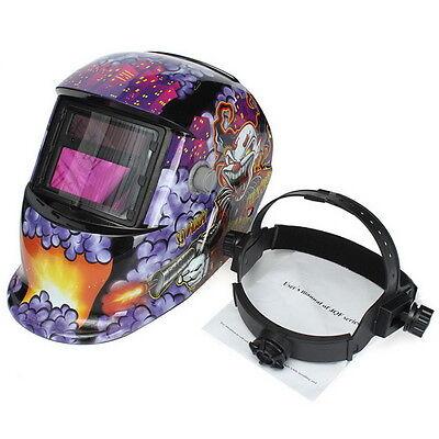 Clown Pro Solar Welder Mask Auto-darkening Welding Helmet Arc Tig Mig Grinding B