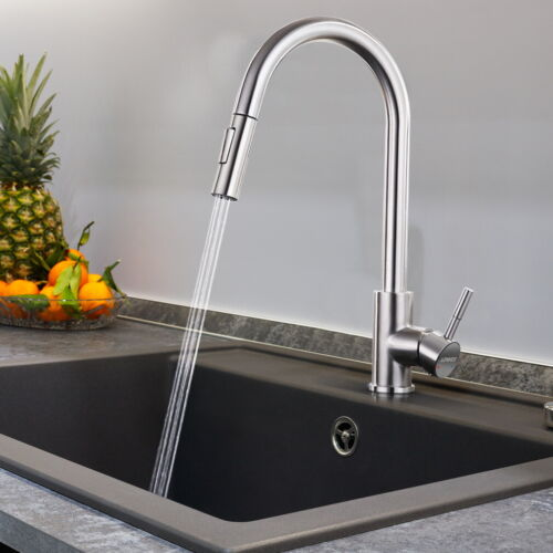 Edelstahl Küchenarmatur Ausziehbar Wasserhahn Einhebelmischer 360° Mischbatterie