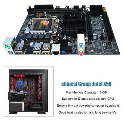 Desktop Motherboard Mainboard For X58 LGA 1366 DDR3 16GB Support ECC RAM UAE online kaufen