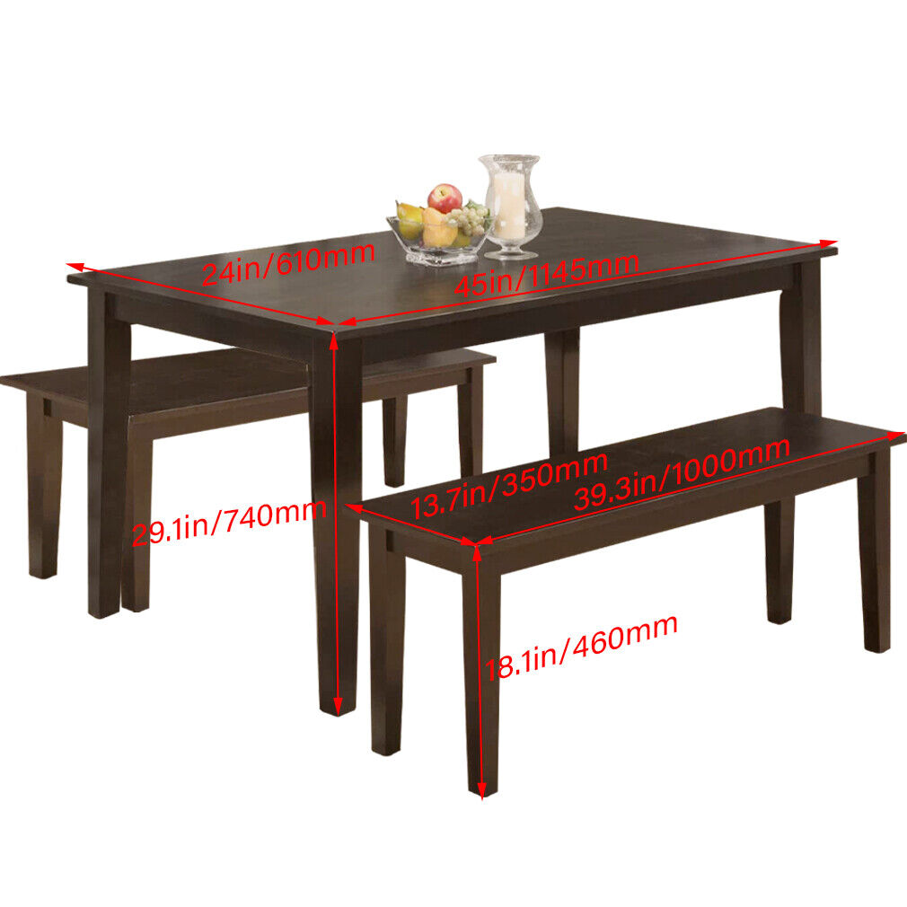 Dining Table Set Dining Table Kitchen Table and Bench for 4 Dining Room Table Dining Sets