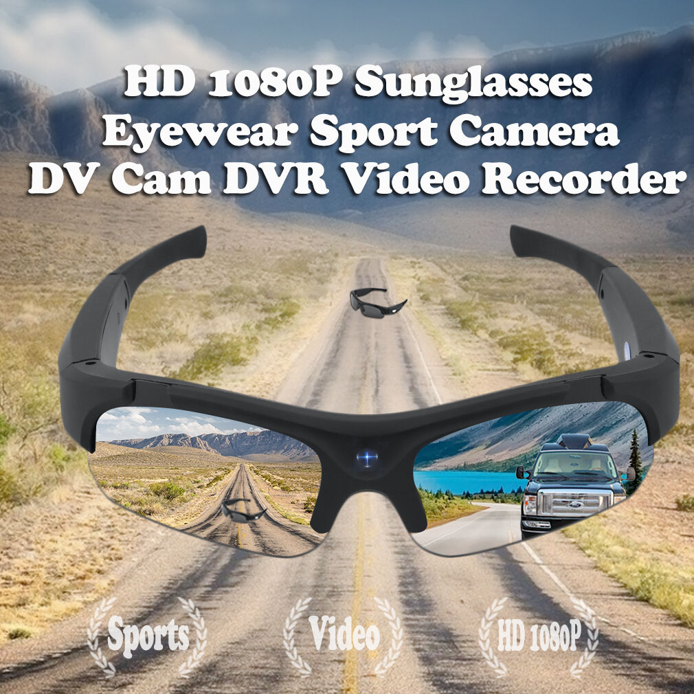 HD 1080P Sunglasses Eyewear Sport Camera DV Cam DVR Video Recorder