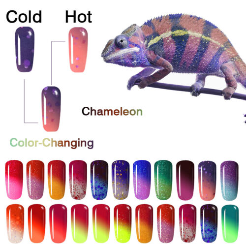 8ml RAINBOW ABBY Thermal Color-Changing Gel Nail Art Soak Of