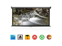 """BRAND NEW,72"""" Manual Pull Down Projector Screen 16:9 Wall/Ceiling Mount Home Movie Cinema"""