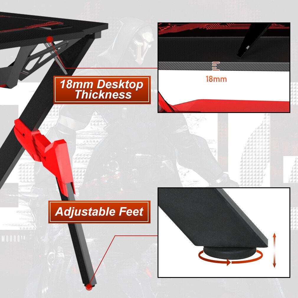 Gaming desk Computer Desk Ofiice Desk Racing Style Writing Desk Carbon Fiber Furniture