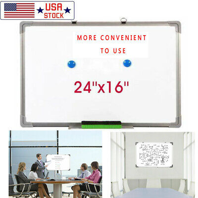 24x16 Magnetic Whiteboard Office Dry Erase Drawing Writing Board School Study