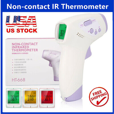 LCD Digital Infrared Thermometer Non-contact Forehead Baby Adult Temperature Gun