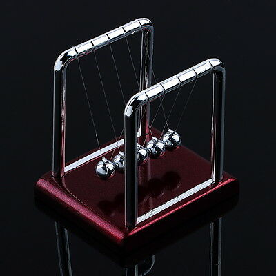Newtons Cradle Steel Balance Balls Desk Physics Science Pendulum Desk Toy Nw
