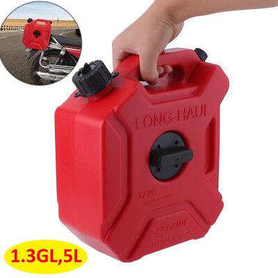 1.3 Gallon 5l Portable Oil Gas Can Spare Container Pot Anti-static Can Fuel Tank