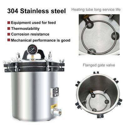 18l Autoclave Sterilizer Stainless Steel Steam Medical Sterilization 110v In Usa