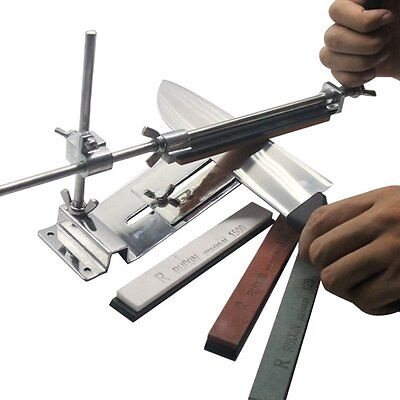 Fixed-angle Knife Sharpener Kit Stainless 4 Sharpening Stones for Garden EK - Garden Stone Kit