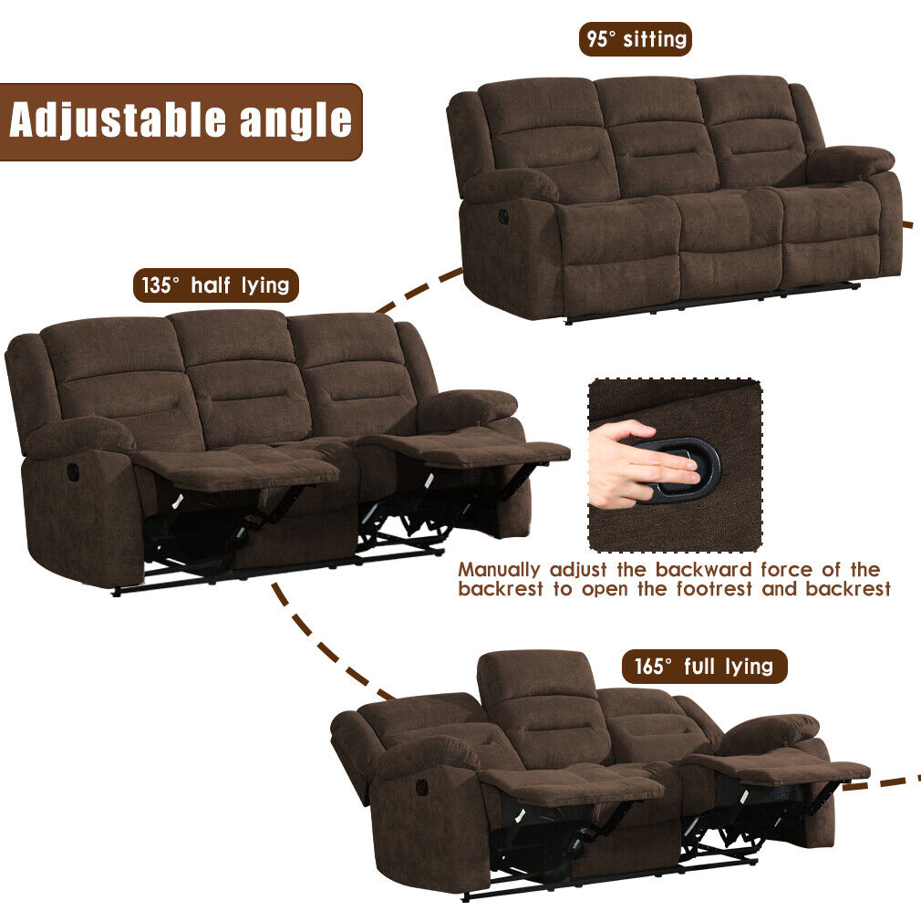 Recliner Sofa Set Sofa for Living Room 3 seater Home Theater Seating Reclining Furniture