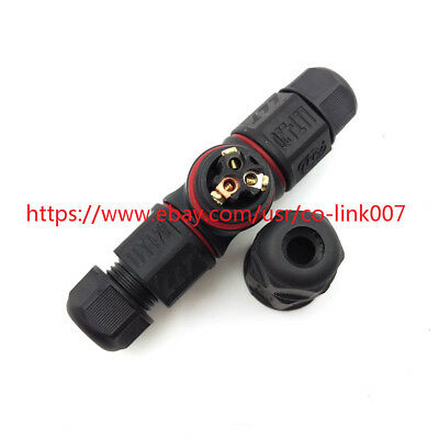 L20-3t 3pin Waterproof Connector Ip67 High-voltage Solder Free Power Connector