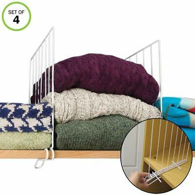 Evelots Set Of 4 New & Improved Closet Shelf Dividers For Wo