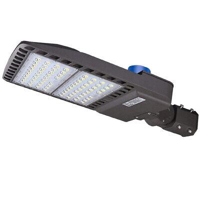 100W 200W 300W LED Parking Lot Shoebox Pole Light with Dusk-to-Dawn Photocell -