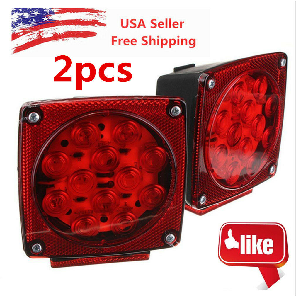 Led Submersible Trailer Light Supplier Kuxniya This Old Wiring Tail Lights Etrailercom Youtube Red Sq Kit Under 80 Stop License Brake To