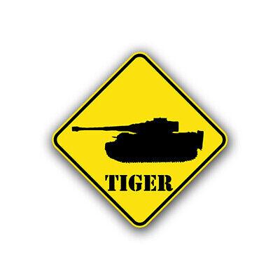 Aufkleber/Sticker Tiger Achtung Panzer Wappen Schild Division 10x10cm A737 Tiger Aufkleber