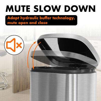 Kitchen Trash Can With Lid  Step Trash Bin Fingerprint-Proof  For Office Bedroom General Household Supplies