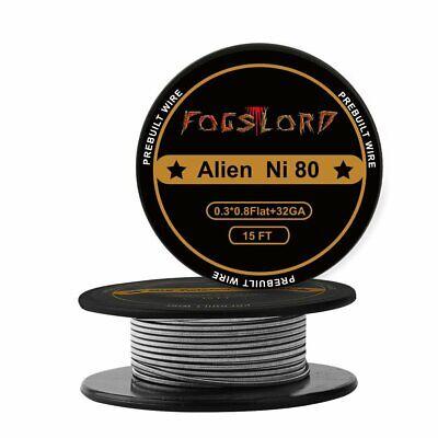 Fogslord Alien Wire Nichrome 80 Heat Resistance Wire Spool Braided Electronic...