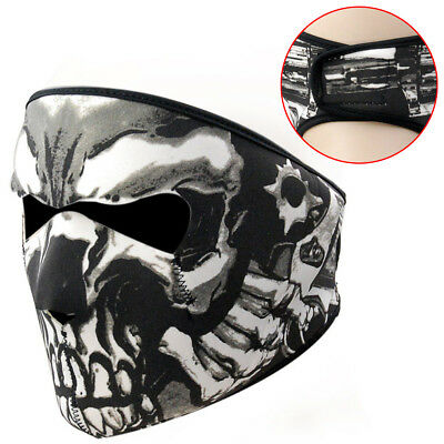 US Skull Assassin Full Face Mask Neoprene 2in1 Reversible for Motorcycle Skiing