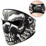 US Skull Assassin Full Face Mask Neoprene 2in1 Reversible for Motorcycle Skiing