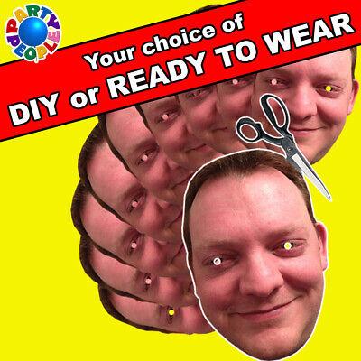 PERSONALISED FACE MASK KITS - SEND A PIC & WE SUPPLY MASKS TO DIY AT HOME LOT - At Home Costumes