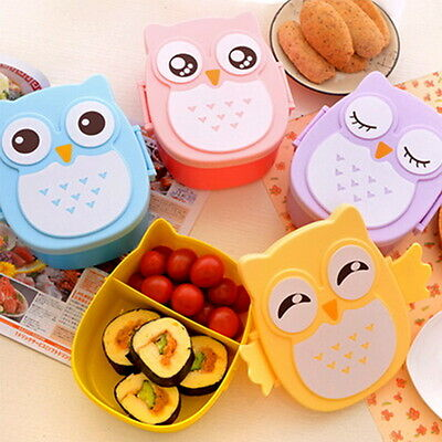 Eulen Mittagessen Kasten Kinder Brotdose Sandwichbox Lunch Bento Box 4 MU