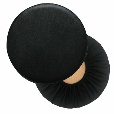 Sigmat 2PC Waterproof PU Bar Stool Cover Anti-slip Round Seat Cover 15 Inch ()