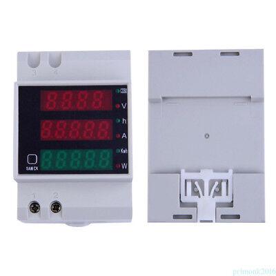 Ac80-300v Digital Din-rail Led Ammeter Voltmeter Voltage Current Meter Power Pr1