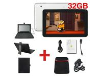 "10""Inch Android 4.4 Quad Core Dual Camera Wifi TABLET PC With Free Keyboard 32GB"
