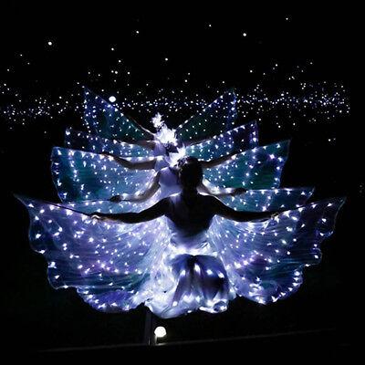 Kind Bauchtanz Kostüm Accessoire glänzende Flügel LED - Tanz Flügel Kostüm