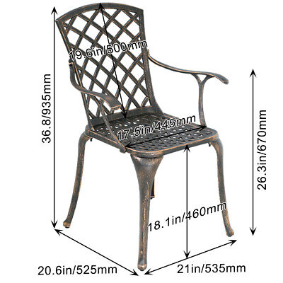 Patio Chairs Dining Chairs Set of 2 Patio Dining Set Outdoor Dining Set Wrought Home & Garden