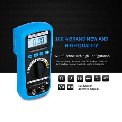 Bside Adm01 Digital Auto Range Multimeter Dc Ac Voltage Current Temperature